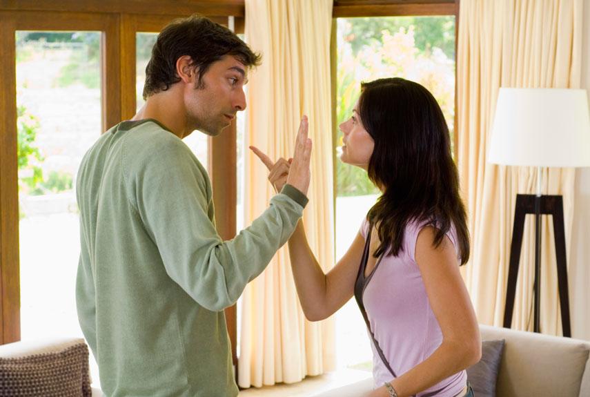 Couple argueing