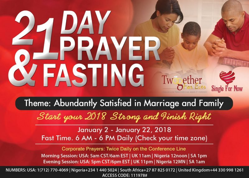 Twogether For Ever – 21 Day Prayer and Fasting